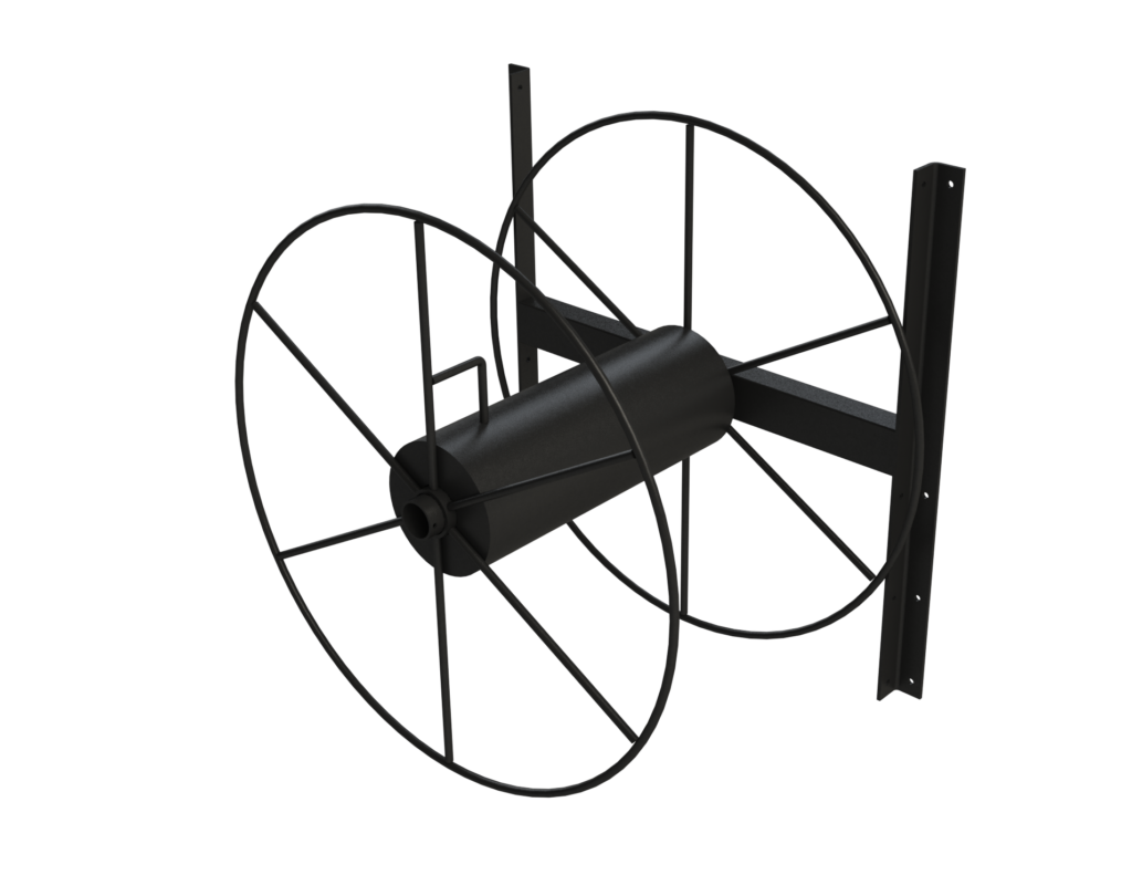 34in Hose Reel Wall Mount Rendering No Background